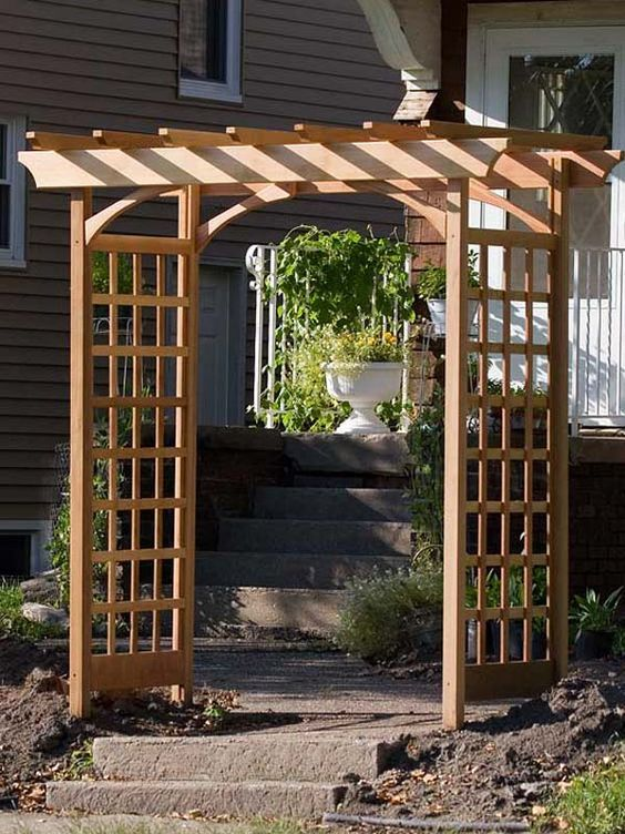 How to Build a Simple Garden Arbor instructions and materials list from thegardenglove.com