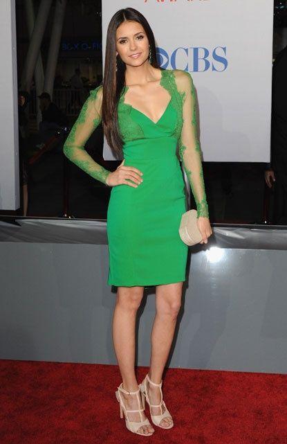 elie saab green dress nina dobrev - Google Search                                                                                                                                                                                 More