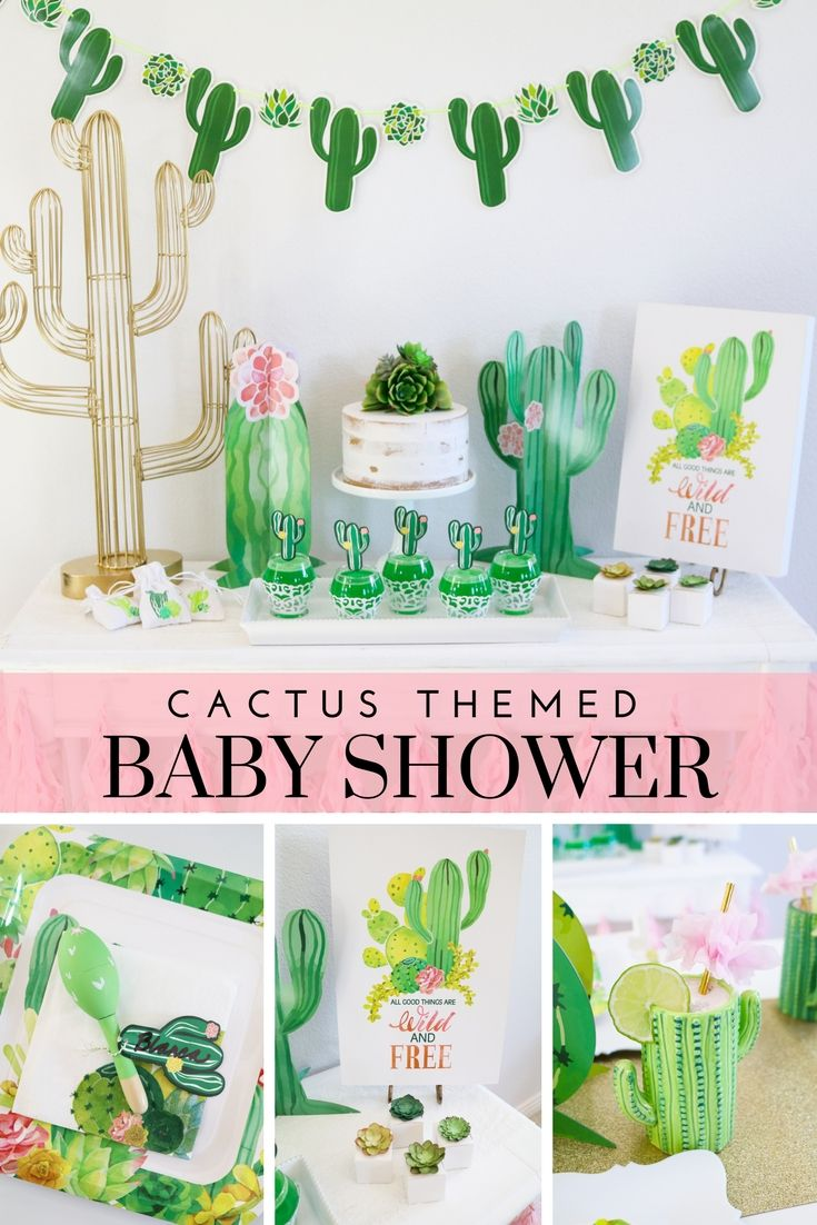 Throw Your Own Cactus Themed Baby Shower With Tips And Tricks From