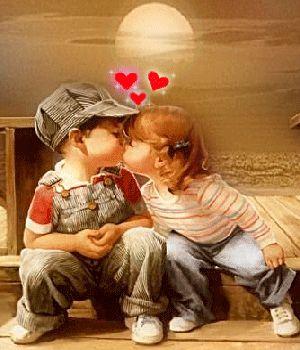 Children kiss.gif