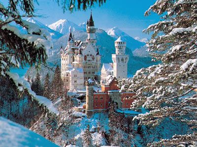 Neuschwanstein in Germany is one of the most famous castles of the world and was built and created by King Ludwig of Bavaria