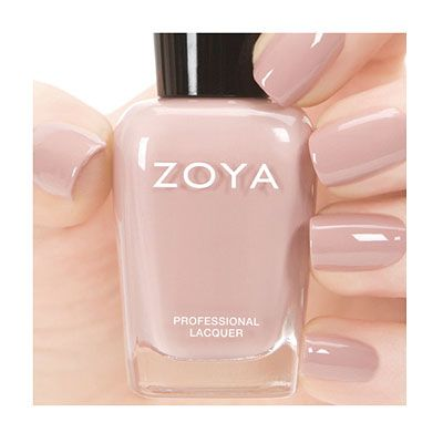Zoya Rue. I love this delicate color. It's prettier than a typical nude. Perfection. #polish #nails