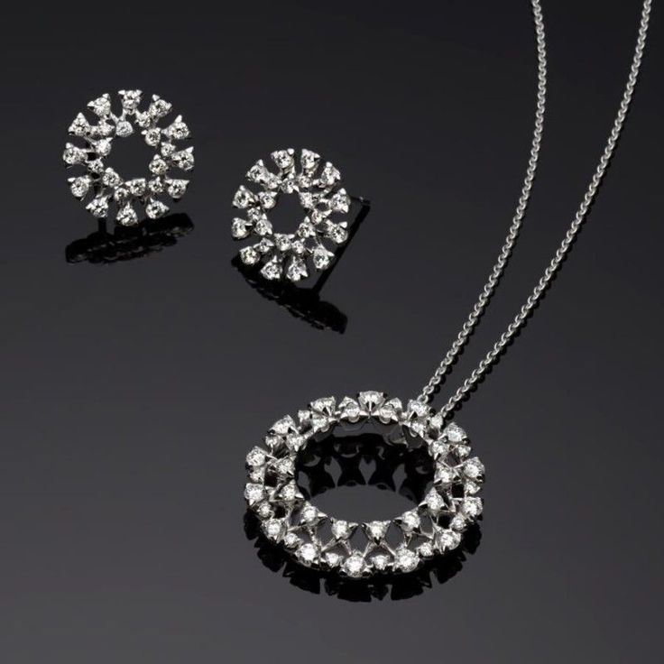 275 best pendant set images on pinterest diamond jewellery not just a single circle but a double halo of diamonds for twice the impact it is beautiful quality workmanship and fine white diamonds mozeypictures