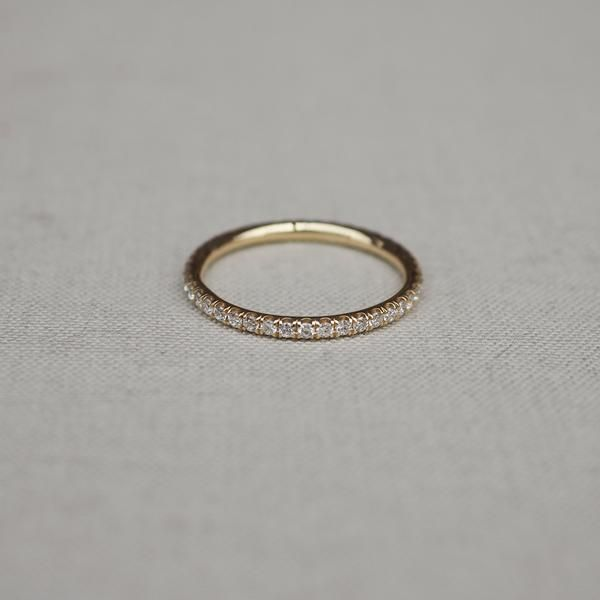 Solid Gold Eternity is Too Short Diamond Ring