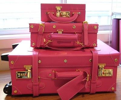 Pink luggage!