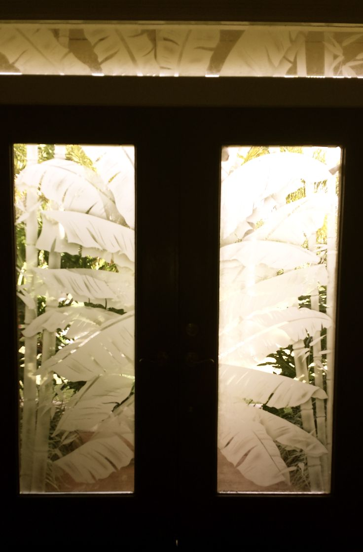 Etched glass doors privacy glass door inserts bamboo pictures to pin - Beautiful Example Of An Etched Glass Double Entry With Transom I Tried To