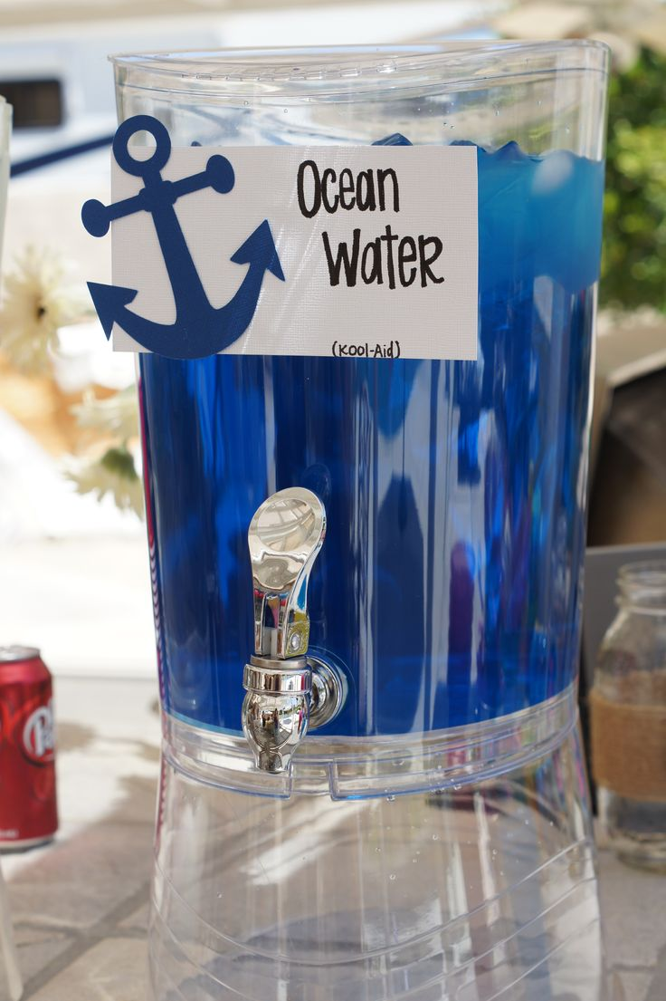Rent one of our drink dispensers and make a Blue (or Red) nautical fruit punch for your guests!