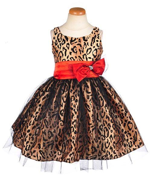 Cheetah b red dress s