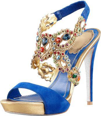 Rene Caovilla Jeweled Ankle-Wrap Platform – Frou Frou & Lace  (fancy/smancy fabulous things!)