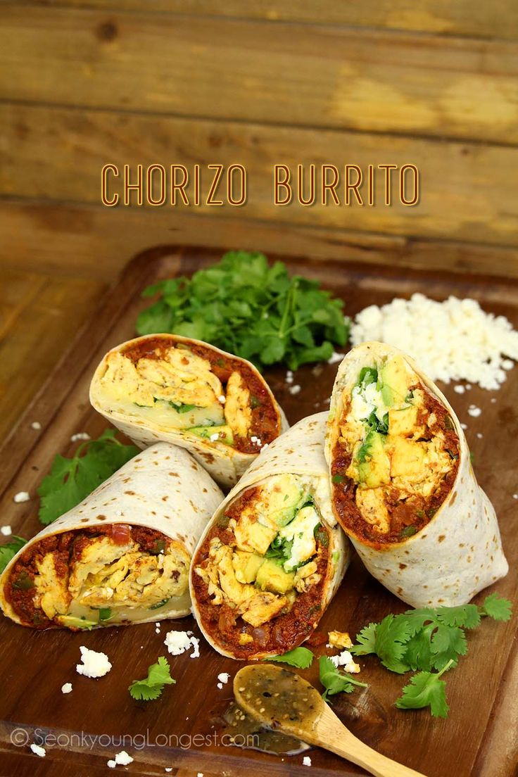 5 from 1 reviews Chorizo Burrito  Save Print Cook time 10 mins Total time 10 mins  Author: Seonkyoung Longest Serves: Makes 2 Large Burrito Ingredients 9 oz…