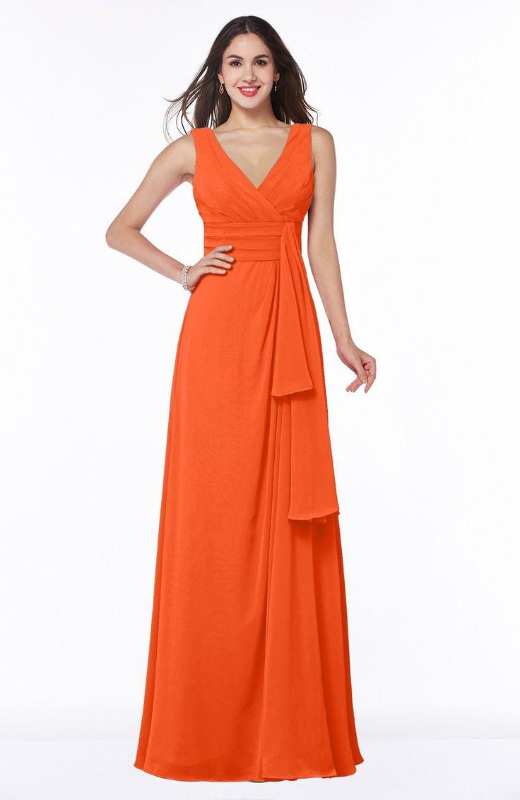 Best 25 tangerine bridesmaid dresses ideas on pinterest blush tangerine bridesmaid dress vintage sleeveless zipper floor length sash plus size ombrellifo Choice Image