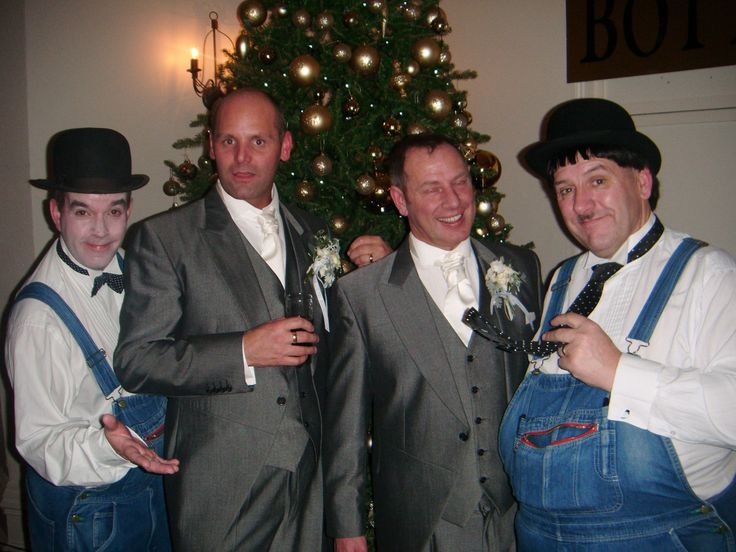 Wedding Entertainment - Laurel & Hardy Lookalikes will welcome your guests, pose for photos, mix and mingle and entertain with close-up magic. Tel: 07977 008 546 / graham-rob@sky.com