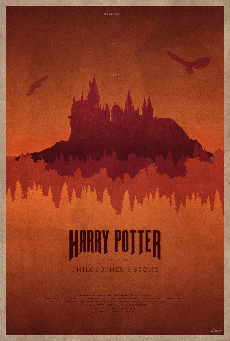 #1 - Harry Potter and t he Philosopher's Stone -- The Harry Potter Poster Collection - Created by Edward J. Moran II