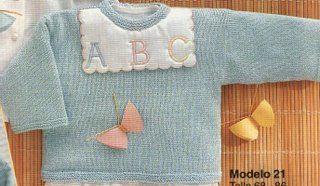 Jersey  tejido a mano para bebé