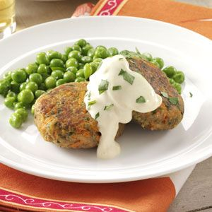 Tuna Cakes with Mustard Mayo Recipe from Taste of Home