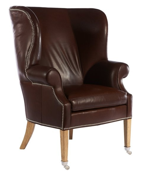 preston leather chair sold by lillian august