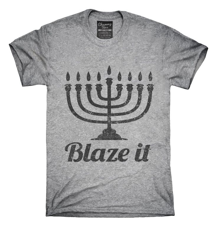 Blaze It Menorah Jewish T-Shirt, Hoodie, Tank Top