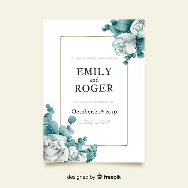 Download Watercolor Floral Wedding Invitation Template For Free In