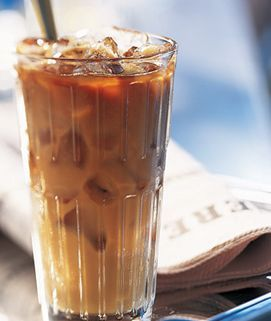 Torani Salted Caramel Iced Coffee Recipe:    Combine 2 tbsp (1 oz) Torani Salted Caramel Syrup with two shots of espresso (can substitute 1/2 cup of strongly brewed iced coffee) and 1 cup (8 oz) of milk. Serve in a tall glass, poured over ice.
