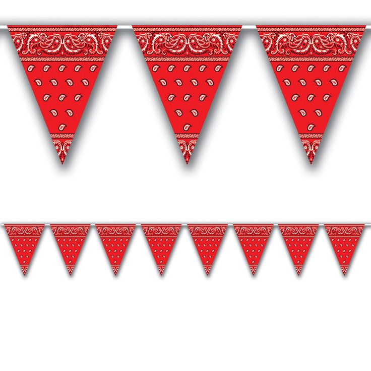 3.6m Western Style Print Pennant Banner - Wild West Cowboy Party Decoration