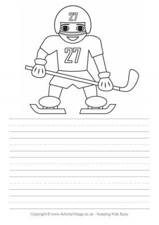 Ice Hockey Story Paper