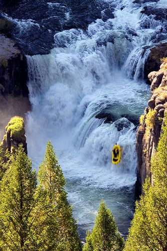 Rafting descent of Mesa Falls, Snake River, Idaho
