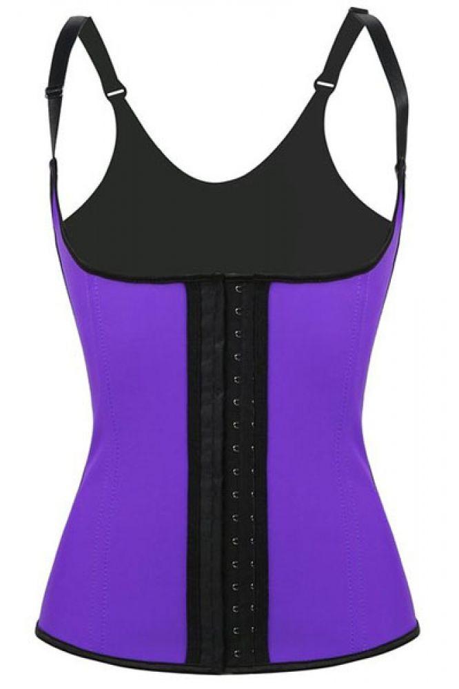 Purple Steel Boned Latex Waist Trainer Vest US$ 17.14