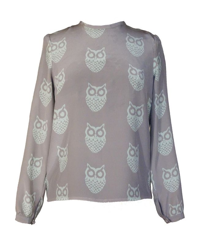 http://wildskydesign.com/  Blouse with Owl print
