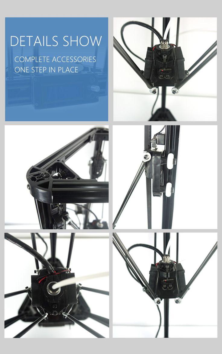 2016 Micromake 3d принтер Шкив Версия Руководство DIY Kit Коссель Дельта Авто Выравнивания Большой Размер Печати 3d металл Принтеркупить в магазине Micromake Official StoreнаAliExpress