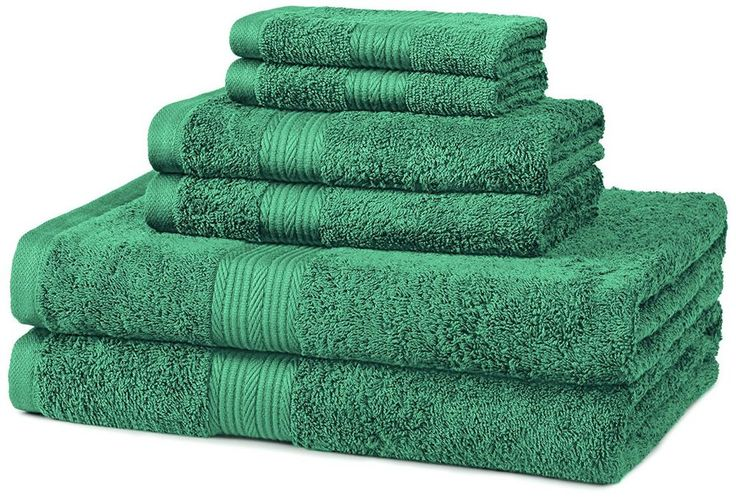 Teal Green 6 Piece Cotton Towel Set Free Shipping
