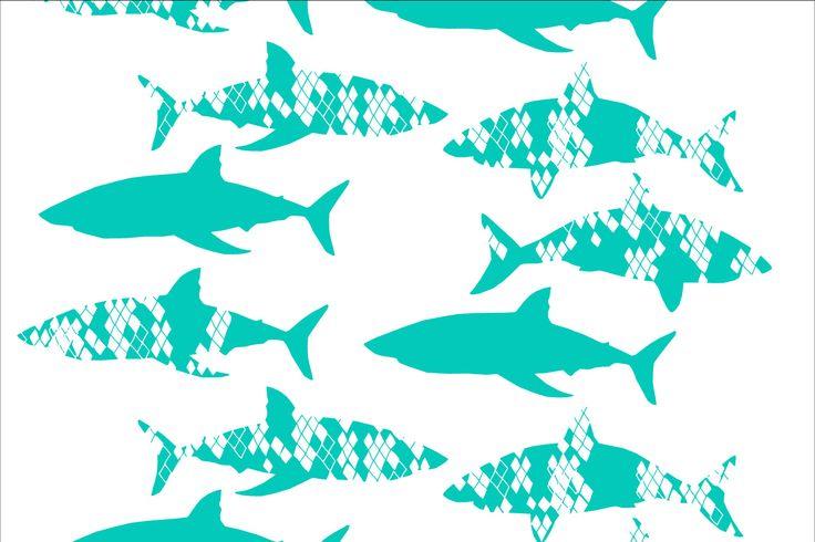 Heidis Shark Diamonds for magnetic wallpapers as a co-operation with Tehosteseinä Oy.