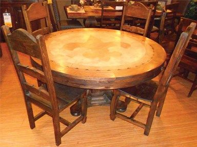Shop For Vintage Furniture Fleur Di Lis Dining Table And 4 Wood Side Chairs Other Room Sets At American Factory Direct In Baton Rouge LA