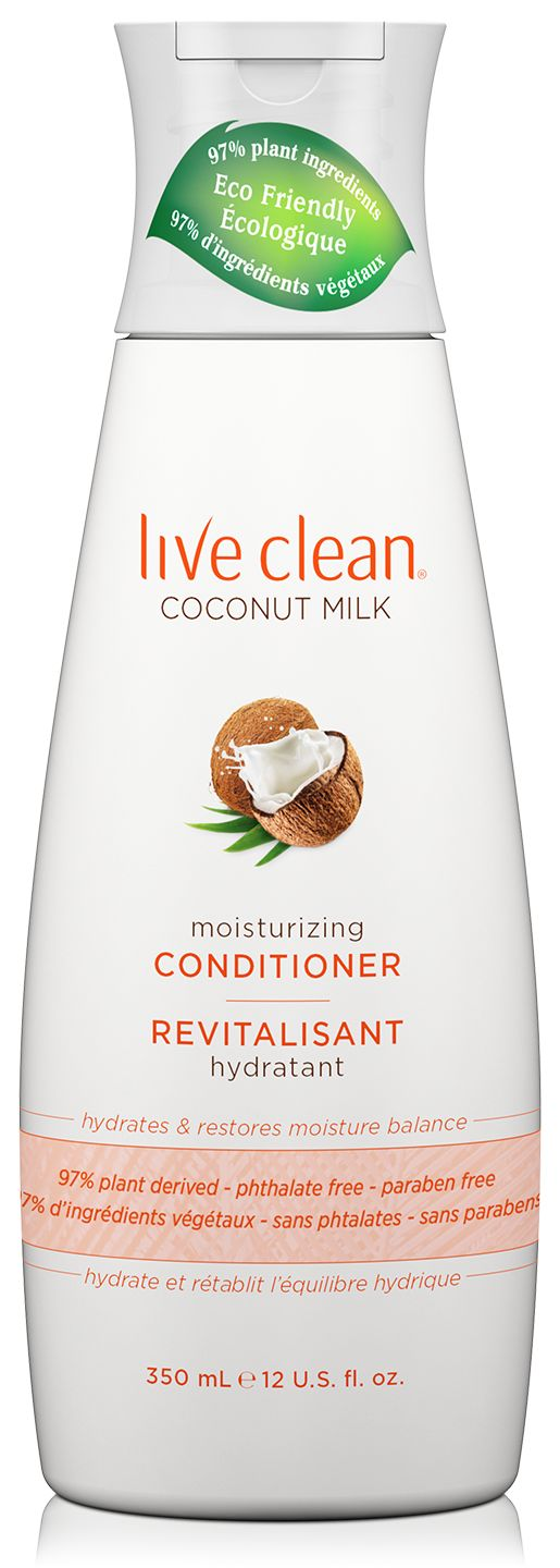 Live Clean® Coconut Milk Moisturizing Shampoo gently cleanses as Coconut oil adds hydration and balance to hair.