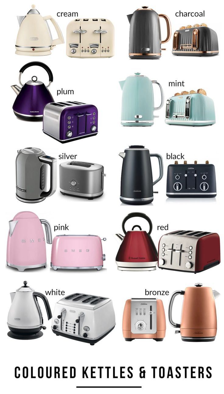 Coloured toasters and kettles modern toasters kettle
