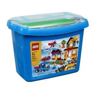 LEGO Bricks & More Deluxe Brick Box  - Nathan loves Duplo, I'd love to get him started on the smaller Lego sets. :)