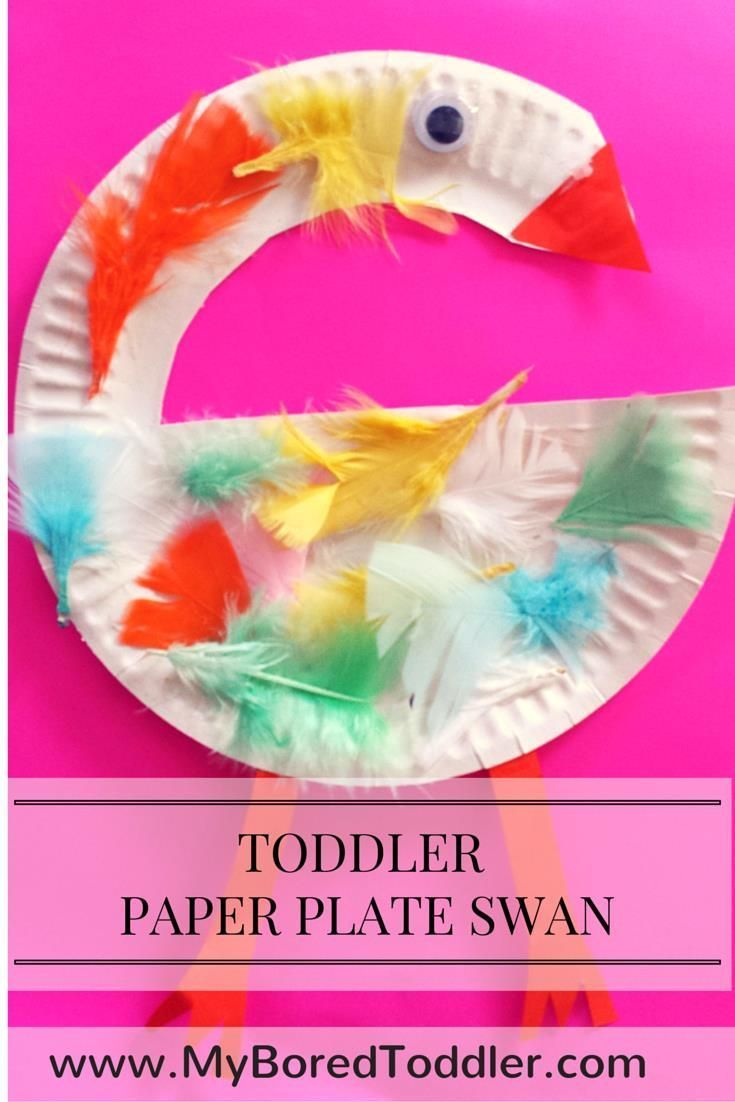 Paper Plate Crafts for Toddlers - Swan