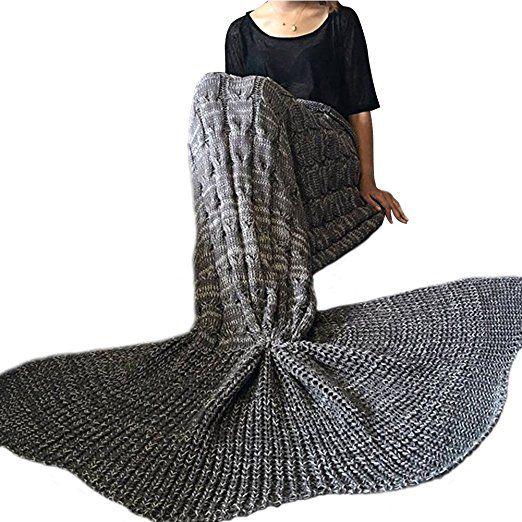 Sealands Decke Im Meerjungfrauen Design Handgefertigt Gestrickt Fr Erwachsene Und Kinder
