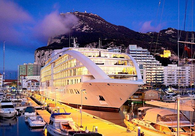 Sunborn yacht hotel  – An exciting new concept in Gibraltar's 5-star luxury floating hotel.  #gibraltar #costa del sol #floating hotel #sunborn