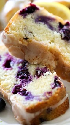 Lemon Blueberry Pound Cake Recipe ~ It is AMAZING! It melts in your mouth and is full of refreshing delicious flavor.