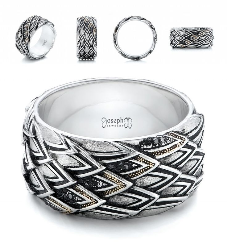 """Women's wedding bands come in all shapes, sizes, colors and styles, and a lot of the time men's choices are boiled down to """"gold"""" or """"white gold."""" So, I thought …"""