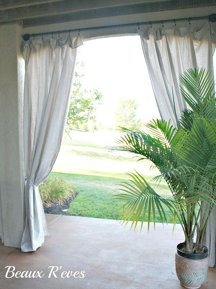 best 25+ outdoor curtain rods ideas only on pinterest | outdoor ... - Inexpensive Patio Curtain Ideas
