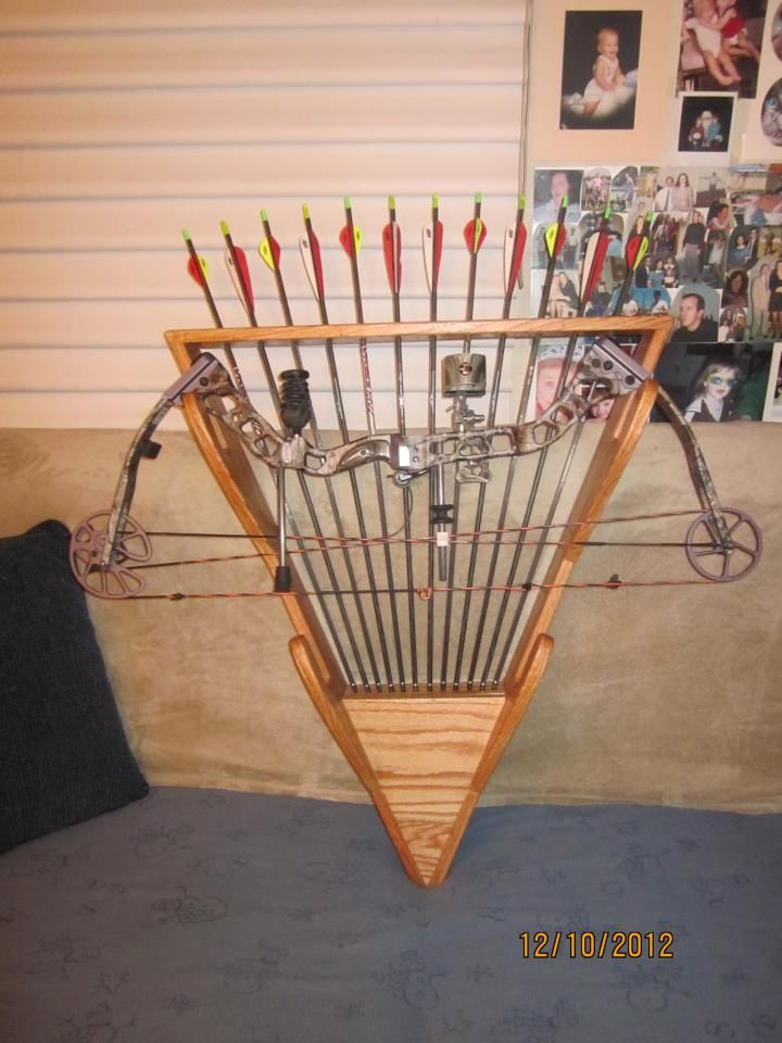 The bow rack dad made for me.