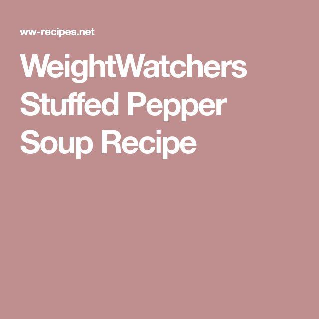 WeightWatchers Stuffed Pepper Soup Recipe