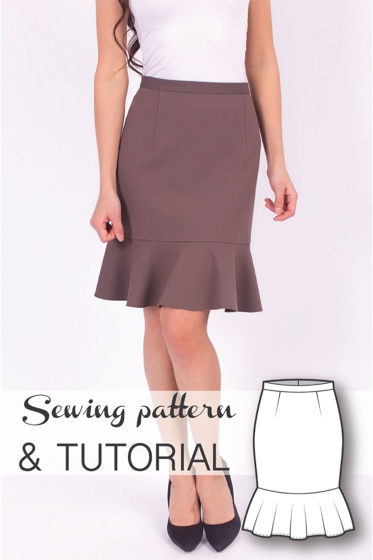 Flounce Skirt Sewing Pattern and Sewing Tutorial