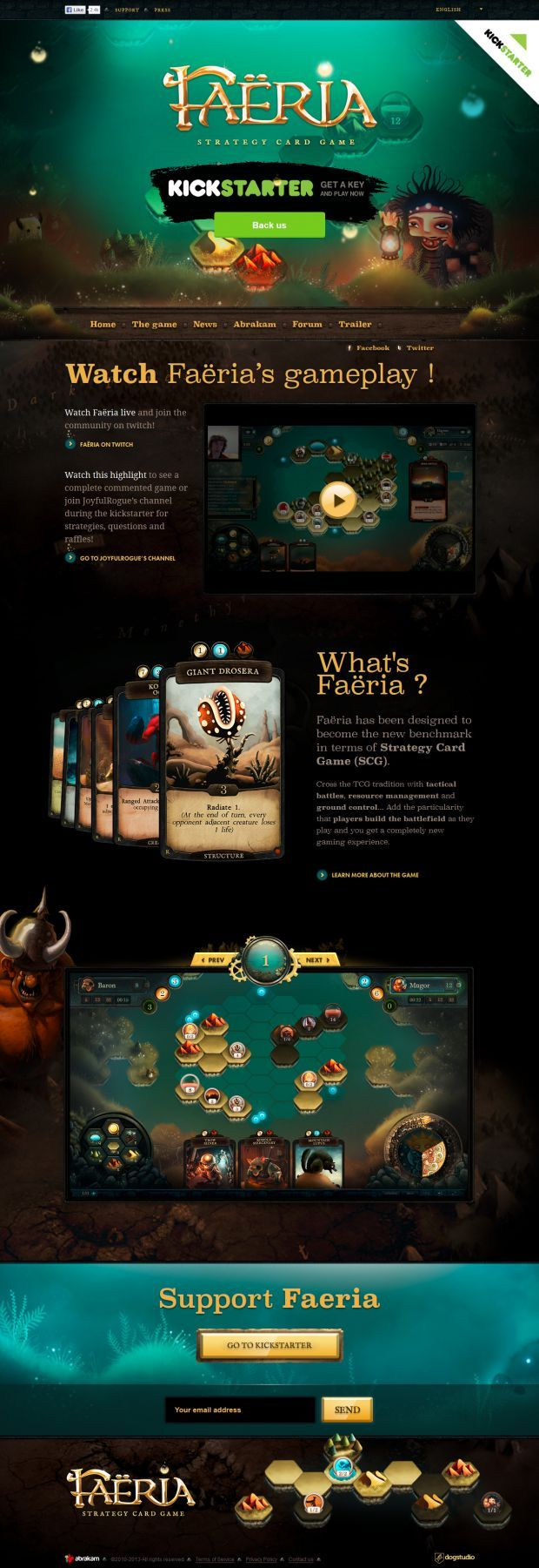 Faeria. The bemchmark of strategy card game. #webdesign #design