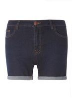 Womens Indigo Denim Shorts- Blue