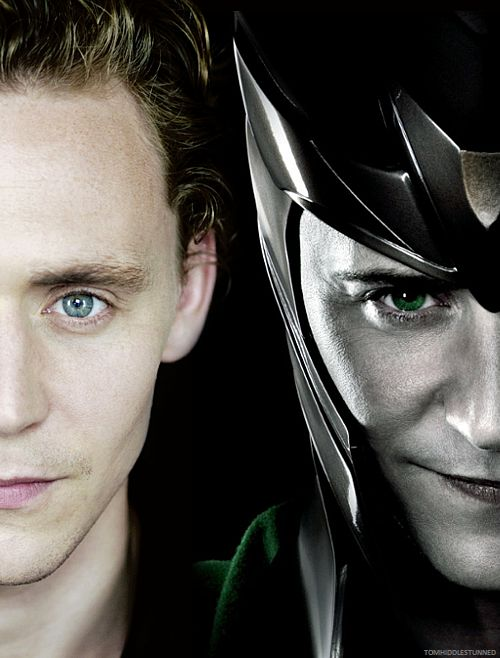 Tom Hiddleston and his alter ego, Loki. Wait...or is it the other way around?? ;)