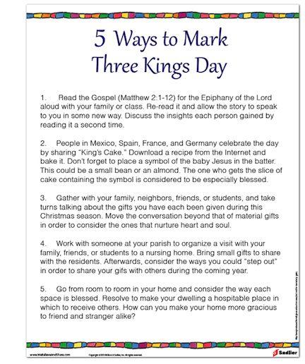 5 Ways to Mark Three Kings Day  #Christmas #Catholics