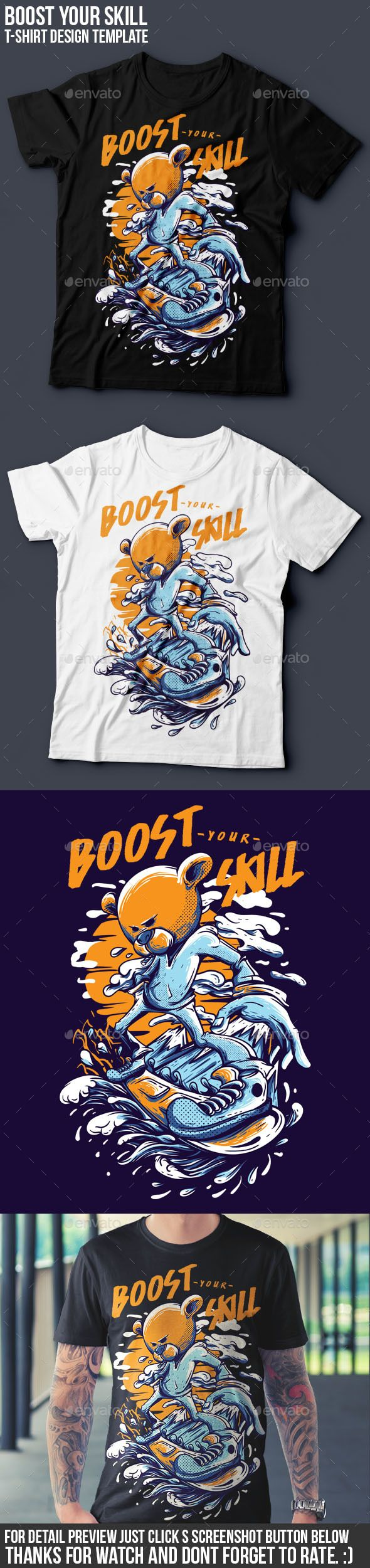 Boost Your Skill T-Shirt Design Template PSD. Download here: http://graphicriver.net/item/boost-your-skill-tshirt-design/16048463?ref=ksioks