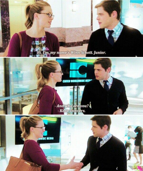 The first day they met. Kara & Winn.  #Supergirl #1x17